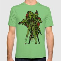 HATHOR ~ RED Mens Fitted Tee Grass SMALL