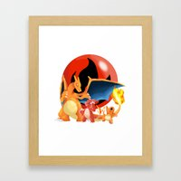 Spit Fires Framed Art Print