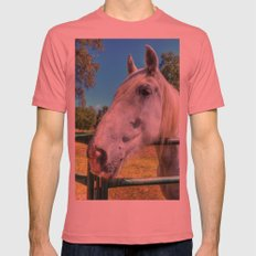 Horsey!  Mens Fitted Tee Pomegranate SMALL