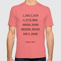 I DON' T GIVE A F**K WHAT PEOPLE THINK Mens Fitted Tee Pomegranate SMALL