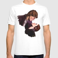 Star Wars, Han & Leia The Empire Strikes Back Mens Fitted Tee White SMALL