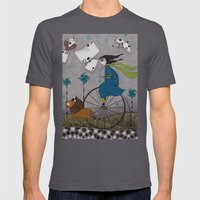 I Follow the Wind Mens Fitted Tee Asphalt SMALL