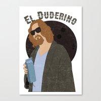 El Duderino Canvas Print
