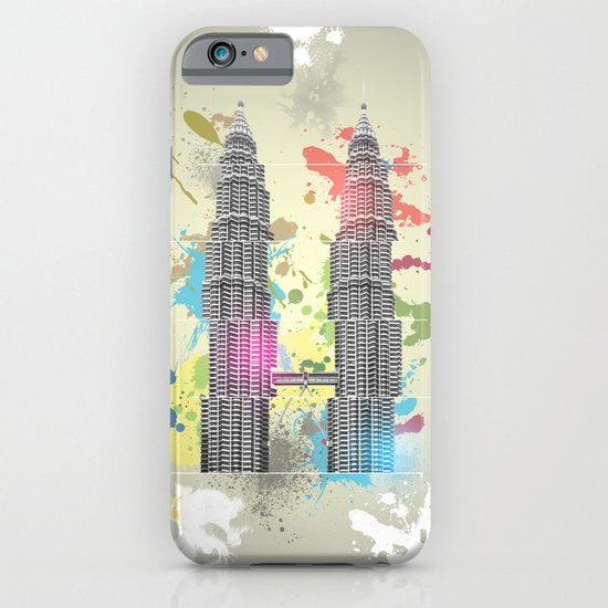 Petronas Towers Abstract iPhone & iPod Case