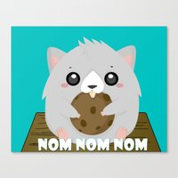 Nom Hamster Canvas Print