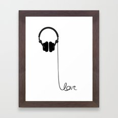 for the love of music Framed Art Print