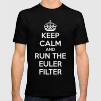 Keep Calm and Run the Euler Filter Mens Fitted Tee Black SMALL