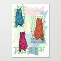 Cute Little Bears Canvas Print