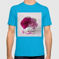 Love flowers Mens Fitted Tee Teal SMALL