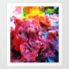 Pink Paint Glob Art Print