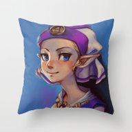 Princess Zelda Throw Pillow