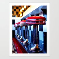 Nostalgic Diner Art Print