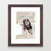 L'élégance Du Hérisso… Framed Art Print