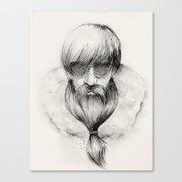 homeless hipster Canvas Print