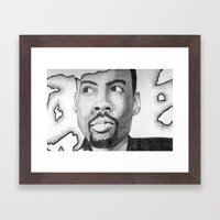 Chris Rock  Framed Art Print