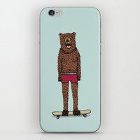Bear + Skateboard iPhone & iPod Skin