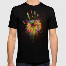 Artist Hand (1) Mens Fitted Tee Black SMALL