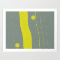 Yellow Bar Art Print