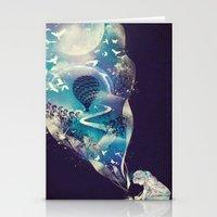 skull Stationery Cards featuring Dream Big by dan elijah g. fajardo