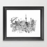 Toronto! (Dark T-shirt V… Framed Art Print