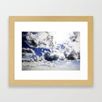Cloud-covered Framed Art Print