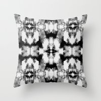 Tie Dye Blacks Throw Pillow