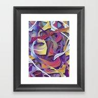 Interaction (in Purple) Framed Art Print