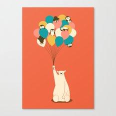 Penguin Bouquet Canvas Print