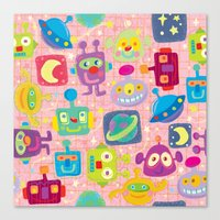 sweet bots Canvas Print