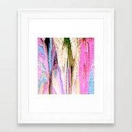 Framed Art Print featuring Pink Abstract Enlightenm… by Saundra Myles