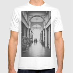 Hamburg shopping b&w Mens Fitted Tee White SMALL