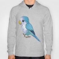 Very Cute Blue Parrot Hoody