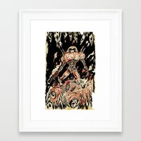 Dogs of Mars pin-up Framed Art Print