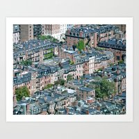 Back Bay , Boston  Art Print