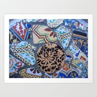 Gaudi, Parc Guell Art Print