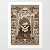 COWER BRIEF MORTALS Art Print