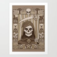 COWER BRIEF MORTALS Art Print