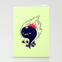 Flaming Squiggles Stationery Cards