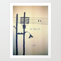 Let There Be Light... Art Print
