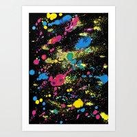 BLACK BALLONS Art Print