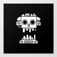 Mechanical Jolly Roger - PM Canvas Print