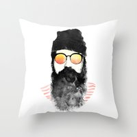 Hipster Chillin Throw Pillow