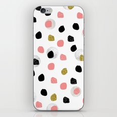 Glitter Black Pink Pattern Spots iPhone & iPod Skin