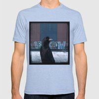 Be Crow Mens Fitted Tee Tri-Blue SMALL