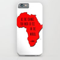 iPhone & iPod Case featuring Gandhi by ParadiseApparel