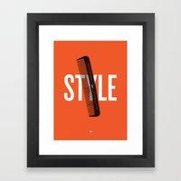 Barbershop Design Ethos … Framed Art Print