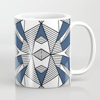 Triangle Tribal #2 Navy Mug