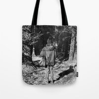 Girl in the Woods Tote Bag