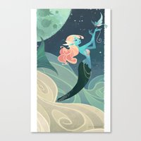 Sky Mermaid Canvas Print