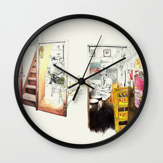 Tuesday Night Doors Wall Clock